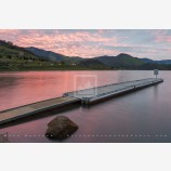 Emigrant Lake Dock Stock Image, Oregon