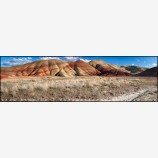 Painted Hills Panorama Stock Image, Oregon