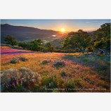 Greensprings Sunset Stock Image, Ashland, Oregon