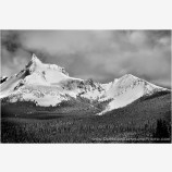 Clearing Weather, Mt. Thielsen Stock Image, Oregon
