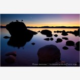 Sunset at Bonsai Rock Stock Image, Lake Tahoe, Nevada