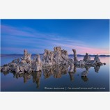 Tufa Glow Stock Image, Mono Lake, California