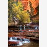 Arch Angel Falls Stock Image, Zion, Utah