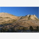 Sierra Moonrise II Stock Image, High Sierra, California