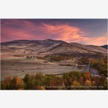 Fall Sunrise On Grizzly Peak Print, Ashland, Oregon