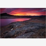 Red Dawn at Emigrant Lake Stock Image, Ashland, Oregon