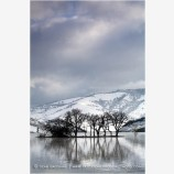 Emigrant Lake in Winter 7 Stock Image Ashland, Oregon