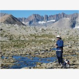 Backpacking on Mt. Tyndal 2 Stock Image High Sierras, California