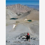 Backpacking on Mt. Tyndal 3 Stock Image High Sierras, California