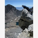 Backpacking on Mt. Tyndal 6 Stock Image High Sierras, California