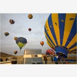 Hot Air Balloon Liftoff Stock Image Montague, California