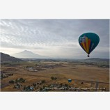 Hot Air Balloon Midflight Stock Image Montague, California