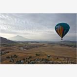 Hot Air Balloon Midflight Stock Image Montague, California