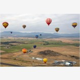 Hot Air Balloons in Flight Stock Image Montague, California