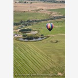 Hot Air Balloon Midflight 2 Stock Image Montague, California