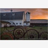 Farm at Sunset Stock Image Palouse, Washington