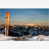 Back Country Skiing 2 Stock Image, Siskiyou Mountains, Oregon