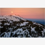 Mt. Ashland at Sunset Stock Image Siskiyou Mountains, Oregon
