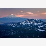 Mt. Shasta at Sunset Stock Image Siskiyou Mountains, Oregon