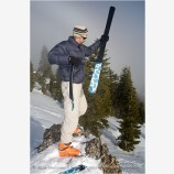 Back Country Skiing 5 Stock Image Siskiyou Mountains, Oregon
