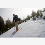 Back Country Skiing 6 Stock Image Siskiyou Mountains, Oregon