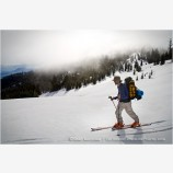 Back Country Skiing 7 Stock Image Siskiyou Mountains, Oregon