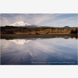 Mt. Adams Reflection Stock Image Cascade Mountains, Washington