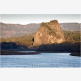 Beacon Rock 2 Stock Image Columbia River, Oregon
