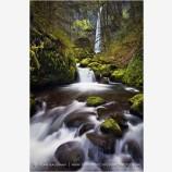 Elowah Falls 2 Stock Image Columbia River Gorge, Oregon