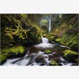 Elowah Falls 3 Stock Image Columbia River Gorge, Oregon