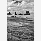 Bandon Beach Shapes II Stock Image, Bandon, Oregon Coast