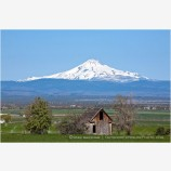 Mt. Jefferson overlooking Farm 2 Stock Image Central Oregon