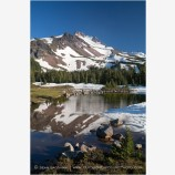 Mt. Jefferson Reflection Stock Image Oregon Cascade Range