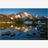 Mt. Jefferson Reflection 2 Stock Image Oregon Cascade Range