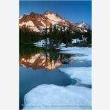 Mt. Jefferson Reflection 3 Stock Image Oregon Cascade Range