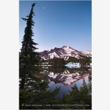 Mt. Jefferson Reflection 4 Stock Image Oregon Cascade Range