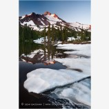 Mt. Jefferson Reflection 5 Stock Image Oregon Cascade Range