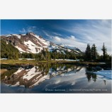 Mt. Jefferson Reflection 6 Stock Image Oregon Cascade Range