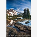 Mt. Jefferson Reflection 7 Stock Image Oregon Cascade Range