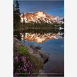 Mt. Jefferson Reflection 8 Stock Image Oregon Cascade Range