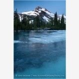 Mt. Jefferson Over Frozen Lake Stock Image Oregon Cascade Range