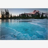 Mt. Jefferson Over Frozen Lake 2 Stock Image Oregon Cascade Range