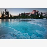 Mt. Jefferson Over Frozen Lake 3 Stock Image Oregon Cascade Range