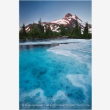 Mt. Jefferson Over Frozen Lake 4 Stock Image Oregon Cascade Range