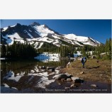 Backpacking Mt. Jefferson Wilderness Stock Image Oregon Cascade Range