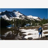 Backpacking Mt. Jefferson Wilderness 3 Stock Image Oregon Cascade Range