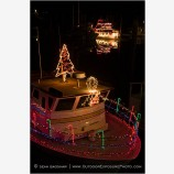 Christmas Boats Stock Image Bandon Harbor, Oregon