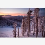 Sunrise over Mt. Shasta Stock Image Mt. Ashland, Oregon