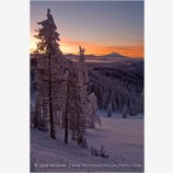 Sunrise over Mt. Shasta 2 Stock Image Mt. Ashland, Oregon