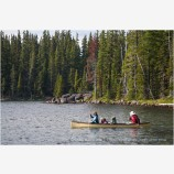 Canoeing Stock Image, Waldo Lake, Oregon